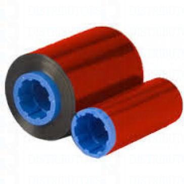 Zebra 800015-102 C Series Red Monochrome Ribbon for P3XX, P4XX P5XX printers, 1000 Images, Compatatible Models P310i, P330i, P330m, P420i, P520i