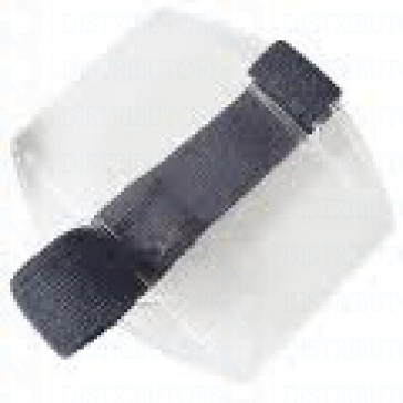 Clear Plastic Card Holder - Navy Blue Armband - Credit Card Size 2.125 inches by 3.375 inches Vertical - Pack of 100