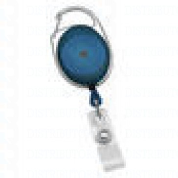 Badge Reel - No - Twist Carabiner - Blue 100 per pack