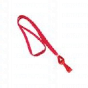 Premium Round Cord w Breakaway, Quick Release, Plastic Hook -Red Pack of 100