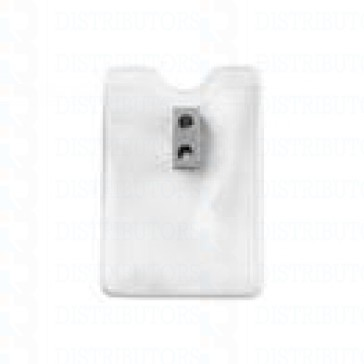 Clear Vinyl Prox Card Badge Holder Vertical Top Load With Slot and Chain Holes - Pack of 100