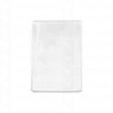 Clear Matte Vinyl Badge Holder Vertical-Top Load With Slot and Chain Holes Govt-Military Size - Pack of 100