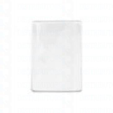Clear/Matte Vinyl Badge Holder Vertical/Top Load W/ Slot/Chain Holes Govt/Mil Size -Pack of 100