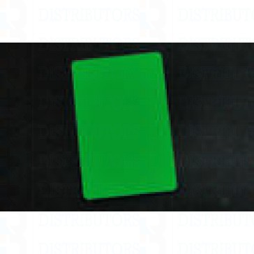 PVC BLANK CARD-CR80 30 Mil GREEN - Pack of 500