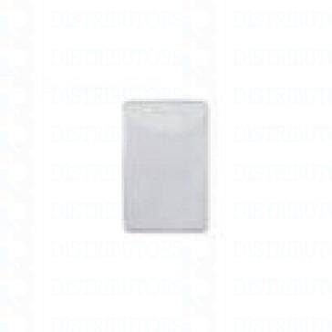 Clear Matte Vinyl Badge Holder Vertical -Top Load Prox Card-slot punch -Pack of 100
