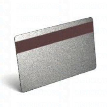 PVC BLANK CARD-CR80 30 Mil LoCo SILVER - Pack of 500