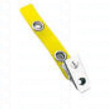 Strap-Clip-Color-Vinyl- W-/-Metal-Bulldog-Clip-Yellow-Pack-of-100