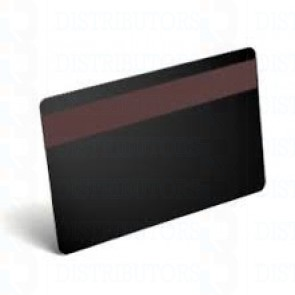 PVC BLANK CARD-CR80 30 Mil HiCo BLACK - Pack of 500