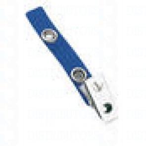 Strap-Clip-Color-Vinyl- W-/-Metal-Bulldog-Clip-Blue-Pack-of-100