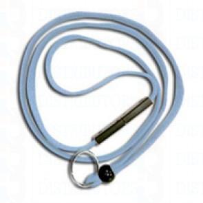 Breakaway Lanyard w Split Ring-Powder Blue Pack of 100