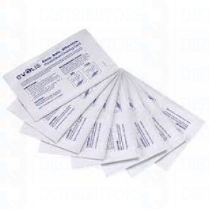 Evolis Printer Clean Cleaning Kit (for card transport rollers) Pack of 50 pre-saturated cleaning cards packaged in individual tear-open pouch