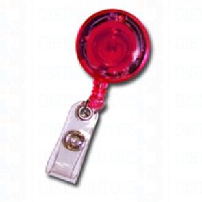 Badge Reel - LED Lighted - Red - Pack of 100