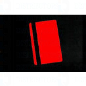 PVC BLANK CARD-CR80 HICO 30 Mil RED - Pack of 500