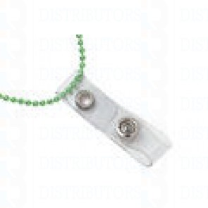 """Strap Adapter-Neck Chain- Clear Vinyl 3 3/8"""" (chain not included) Pack of 100"""