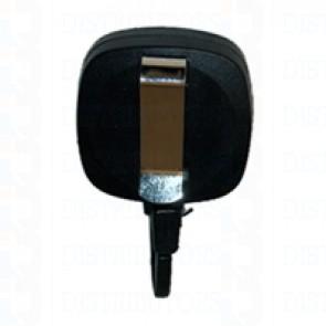 Badge Reel-Premium-Square-Black-Twist Resistant -Pack of 100