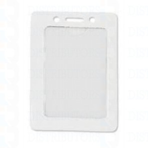 Color-Coded Vertical Badge Holder W/Color Frame - White - Pack of 100