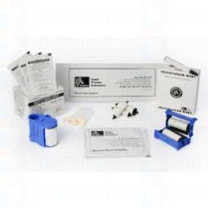 Zebra ZXP Series 8 Print Station & Laminator Cleaning Upgrade Kit (includes 12- X, Y, laminator cleaning cards, adhesive cards, and 3-hot roller cleaning cards. Enough for 60,000 prints.)