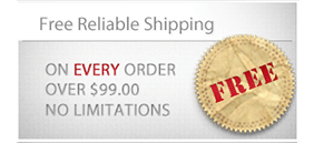Free Insured Shipping on every order over $99.00