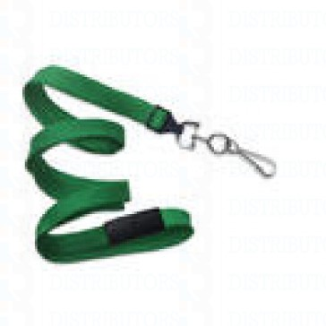 "3/8"" Breakaway Lanyard With Bulldog Clip - Green Pack of 100"