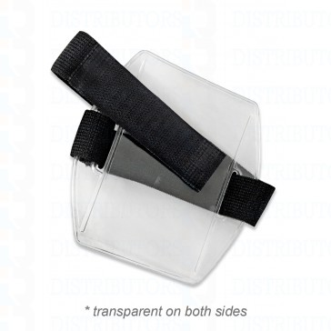 Armband Badge holder with velcro black