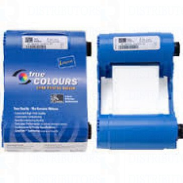 Zebra 800015-909 iSeries White Monocrhome Ribbon Cartridge for P1XX Printers, 850 Images P100i P110i P120i