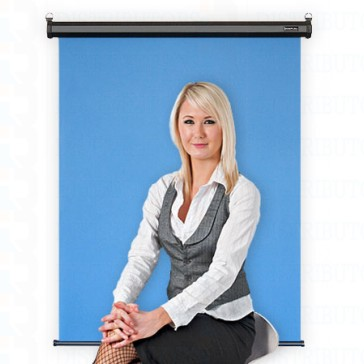 "Standard Backdrop with Retractable Ceiling or Wall Mounted- Cloth Backdrop, 34"" X 28"",Black Casing -Red"