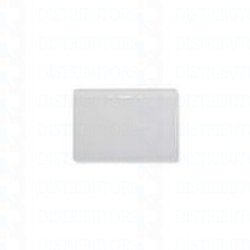 Clear/Matte/Vinyl Badge Holder Vertical/Top Load W/Slot/Chain Holes Data/CC Size - Pack of 100