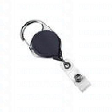 Badge Reel - No-Twist Carabiner - Black - 100 per pack