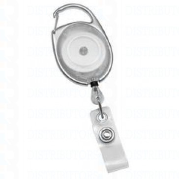 Badge Reel- Carabiner - Clear