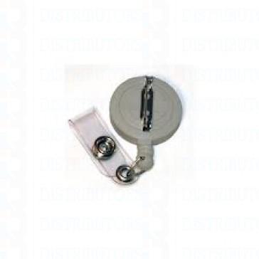 Economy Badge Reel, Pin On - White - 100