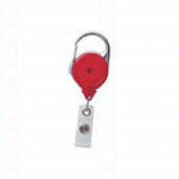 Badge Reel - No-Twist Carabiner - RED - 100 per pack
