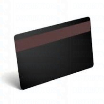 Blank PVC Rewritable Cards (Black) with HiCO Mag Stripe - 30 Mil 1 Pack of 100 Cards