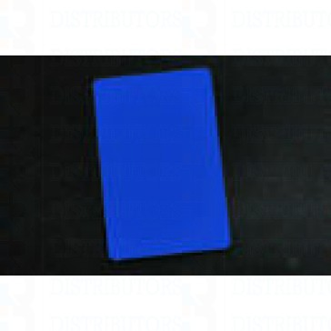 Blank PVC Rewritable Cards (Blue) - 30 Mil 1 Pack of 100 Cards