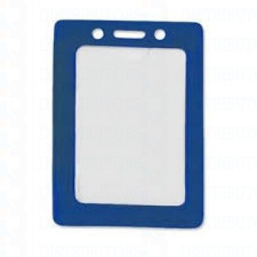 Color-Coded Vertical Badge Holder W/Color Frame - Blue- Pack of 100