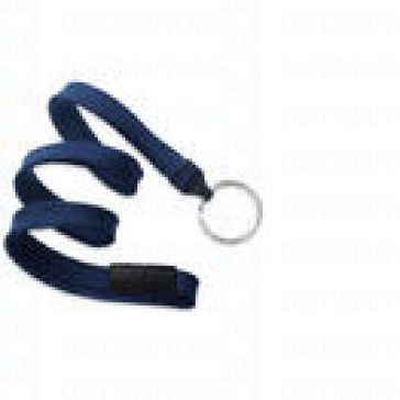 Breakaway Lanyard w Split Ring - Navy Pack of 100