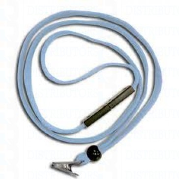 Breakaway Lanyard with Bulldog Clip - Powder Blue