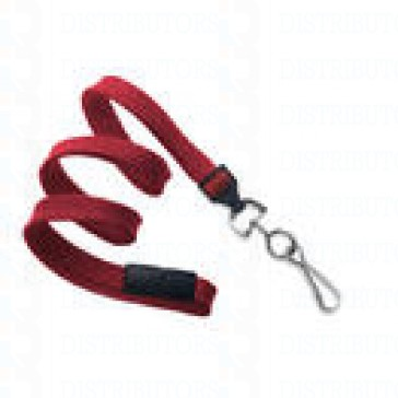 Premium Round Cord w Breakaway, Quick Release, Swivel Hook-Red Pack of 100