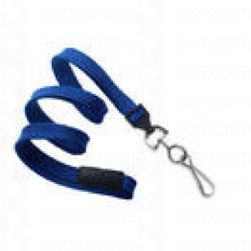 Breakaway Lanyard w Swivel Hook - Royal Blue Pack of 100