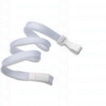 Premium Round Cord w Breakaway, Quick Release,Plastic Hook- White Pack of 100