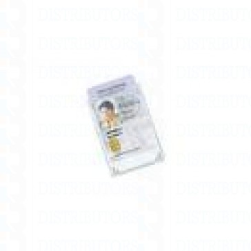 Clear Plastic Card Holder - Clear - Credit Card Size 2.125 inches by 3.375 inchesUp to 3 Cards (90 Mil) Horizontal - Pack of 100