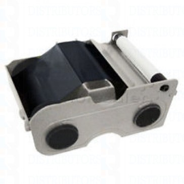 Fargo 44201 K Cartridge w/Cleaning Roller:Premium Black Panel - 1000 Images - Legacy Fargo Printers
