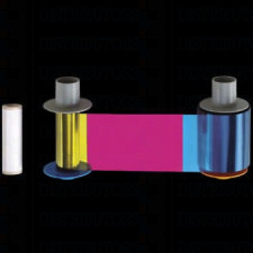 Fargo 84011 YMCK: HDP Full-color ribbon with black resin– 500 images (CR-80) ,   For the Legacy Printers of Fargo HDP600
