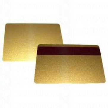 PVC BLANK CARD-CR80 30 Mil LoCo GOLD - Pack of 500
