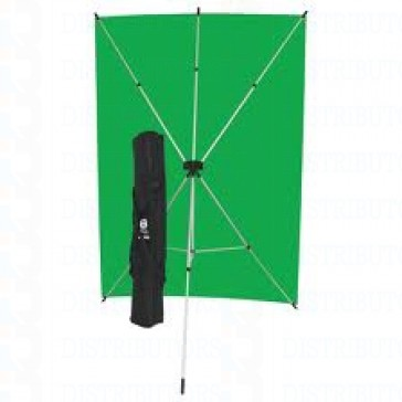 "Standard Backdrop with Stand- Cloth Backdrop, 34"" X 28"", Green"