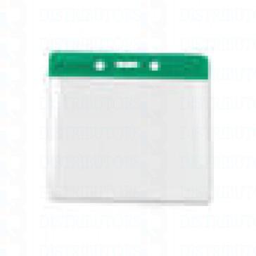 Color-Coded Vertical Badge Holder W/Color Frame - Green - Pack of 100
