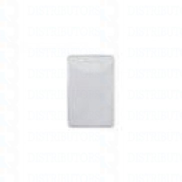 Clear Matte Vinyl Badge Holder Vertical -Top Load Prox Card-slot punch -Pack of 100