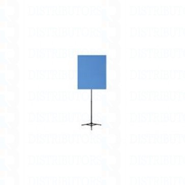 "Standard Reversable Backdrop with Stand- Cloth Backdrop, 34"" X 28"", White/Lt Blue"