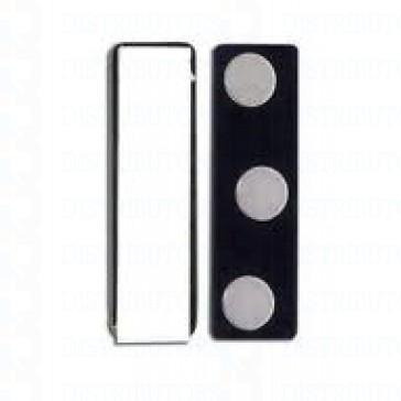 Magnetic Badge Attachment -2 rectangular plates, Plastic Card Holder - Pack of 100