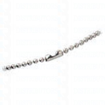 "Bead Chain, 24"", Nickel Plated - Pack of 100"