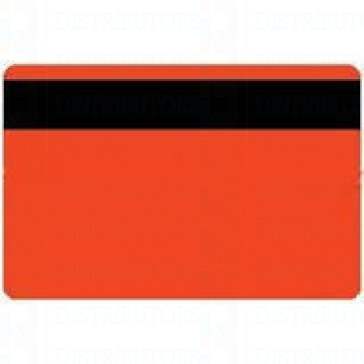 PVC BLANK CARD-CR80 30 Mil HiCo ORANGE - Pack of 500